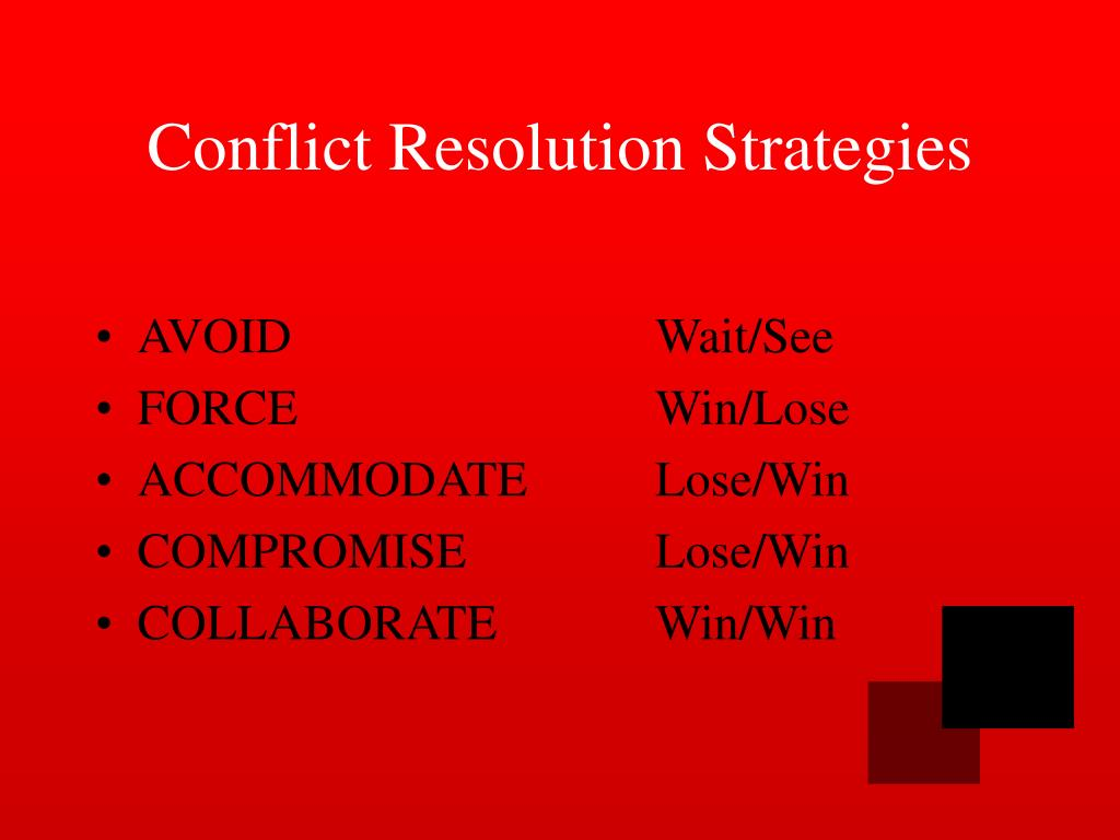 compromise as a conflict resolution strategy