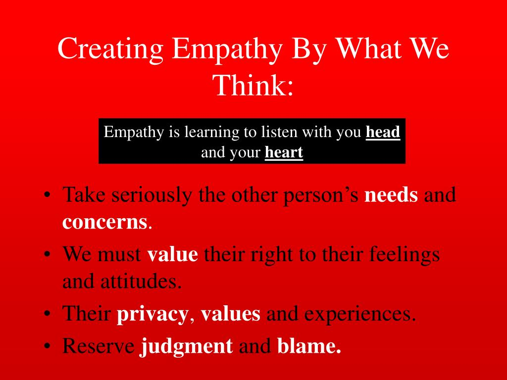 creating empathy essay Empathy research and psychology in general has flourished in the united states thanks also to dr philip aust for reading my papers and.