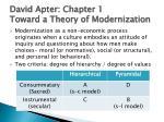 david apter chapter 1 toward a theory of modernization