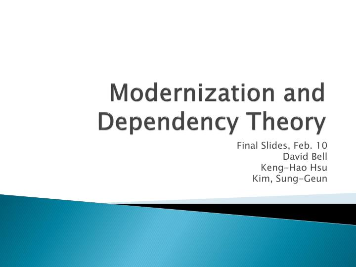 modernization and dependency theory n.