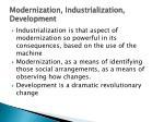modernization industrialization development