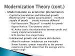 modernization theory cont