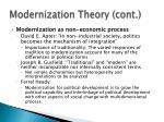modernization theory cont2