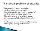the special problem of equality