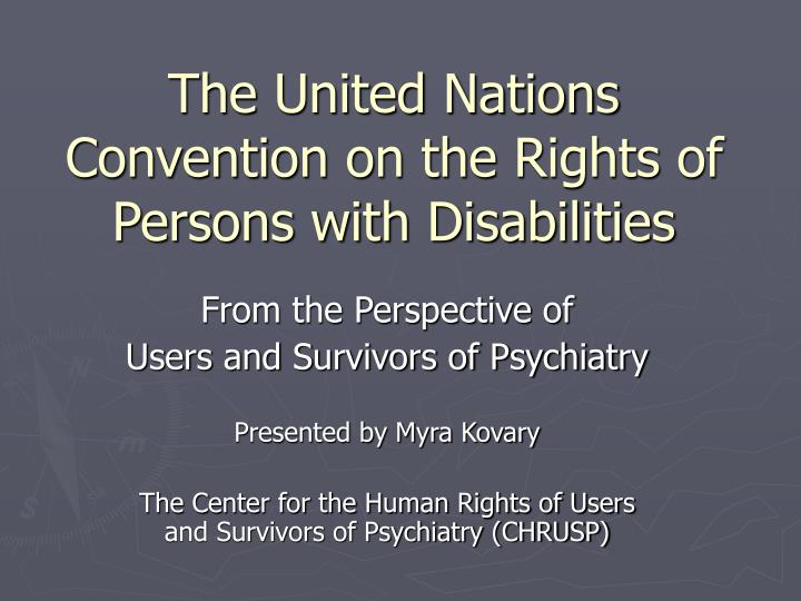 the united nations convention on the rights of persons with disabilities n.