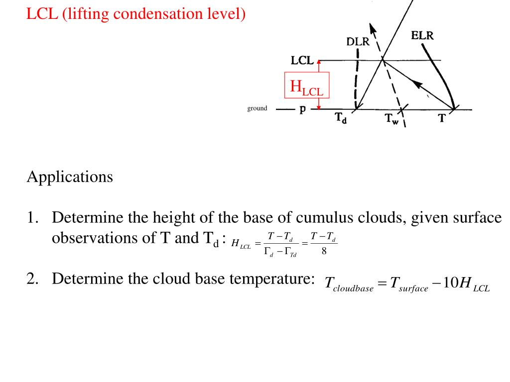 LCL (lifting condensation level)