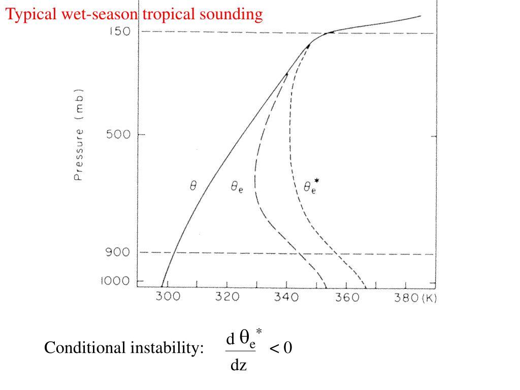 Typical wet-season tropical sounding