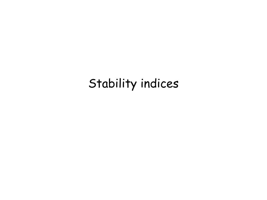 Stability indices