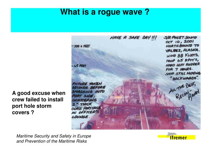 What is a rogue wave ?