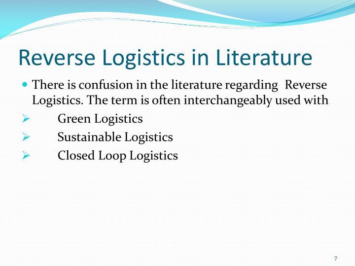 Reverse Logistics in Literature