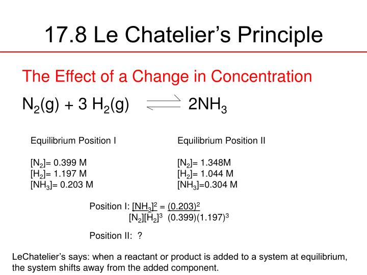 le chatelier s principle labpaq Le chatelier's principle  the le chatelier's principle can be stated as: when external stress is applied on a system at dynamic equilibrium, the system shifts the position of equilibrium so as to nullify the effect of stress.