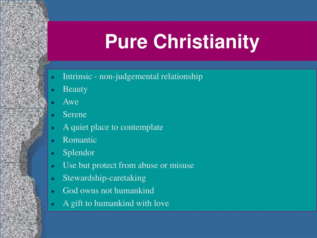Pure Christianity
