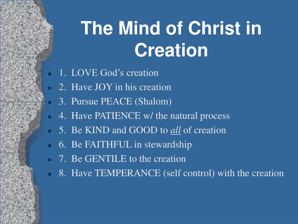 The Mind of Christ in Creation