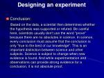 designing an experiment9