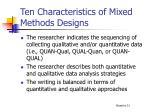 ten characteristics of mixed methods designs2
