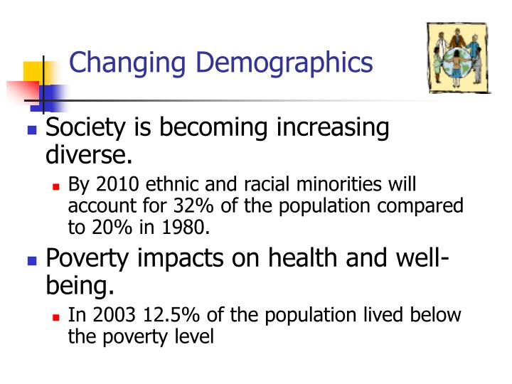 changing demographics We live in a society where racial demographics serve as a factor in how we fund, operate, and make policies about our higher education institutions people tend.