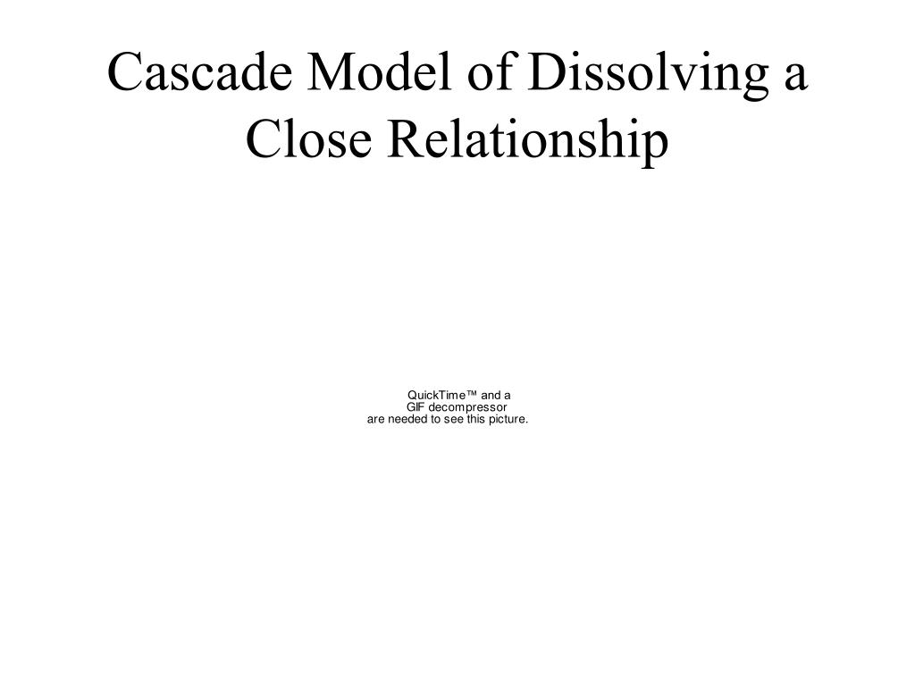Cascade Model of Dissolving a Close Relationship