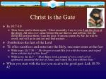 christ is the gate