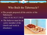 who built the tabernacle