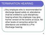 termination hearing