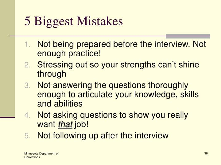 5 Biggest Mistakes