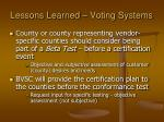 lessons learned voting systems11