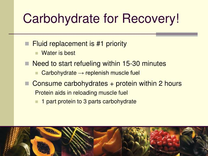 Carbohydrate for Recovery!