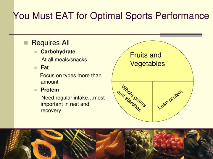 You Must EAT for Optimal Sports Performance