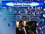 drug free program approval process25