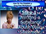 how do you establish a drug free workplace9