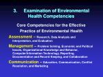 3 examination of environmental health competencies