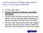 a voter requested an absentee ballot and now wishes to vote in person do you76
