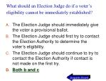 what should an election judge do if a voter s eligibility cannot be immediately established37