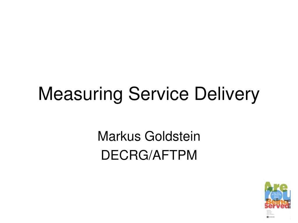 measuring service delivery l.