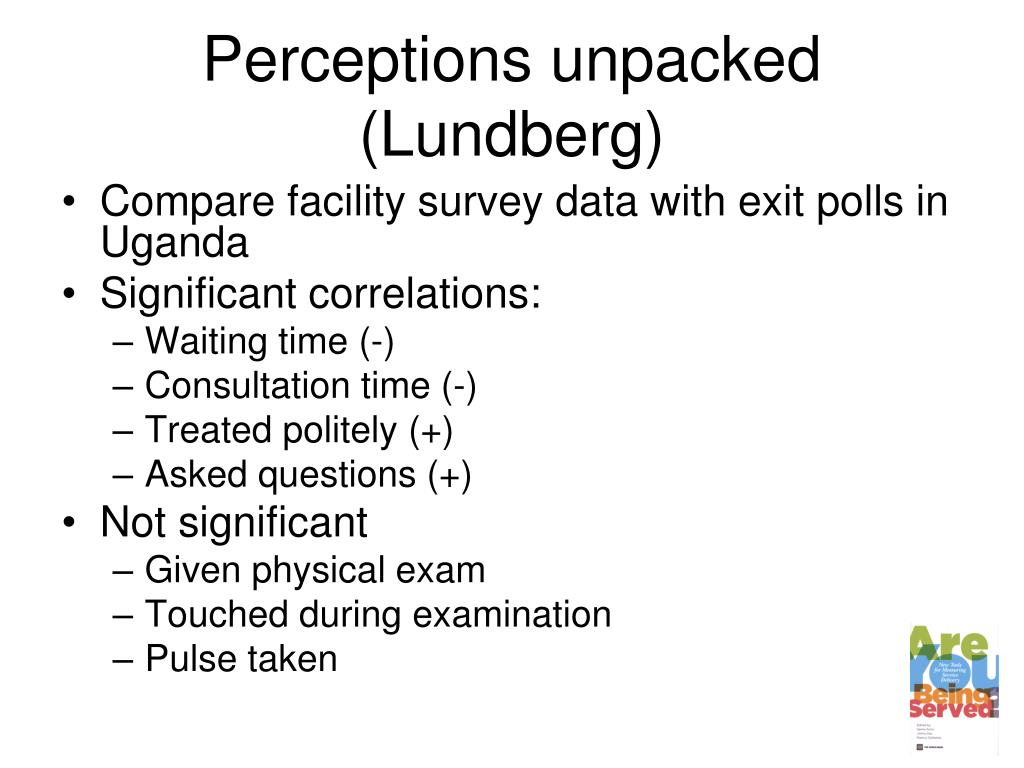 Perceptions unpacked (Lundberg)