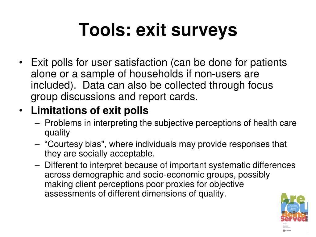 Tools: exit surveys
