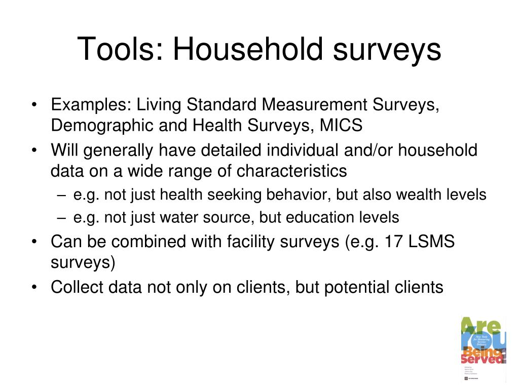 Tools: Household surveys