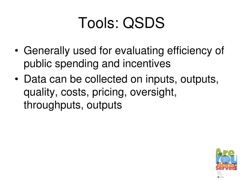 Tools: QSDS