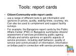 tools report cards
