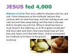 jesus fed 4 000