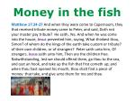 money in the fish