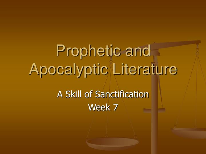 prophetic and apocalyptic literature n.
