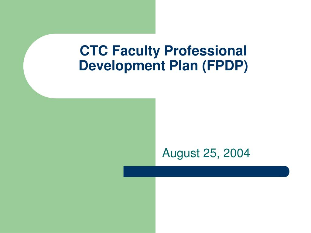 ctc faculty professional development plan fpdp
