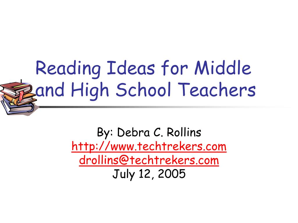 reading ideas for middle and high school teachers l.
