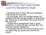 what is your text book s grade level fry readability graph