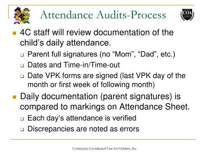 Attendance Audits-Process