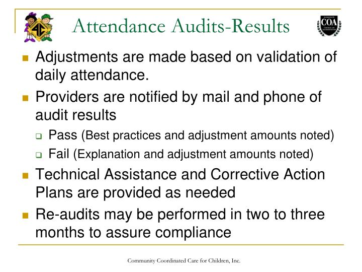 Attendance Audits-Results