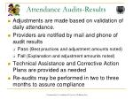 attendance audits results
