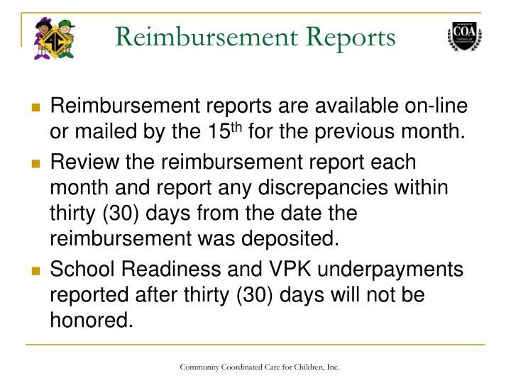 Reimbursement Reports