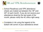 sr and vpk reimbursement